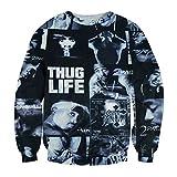 Catamaran Hip Hop THUG LIFE Tupac 2PAC Swag 3D Sweatshirt Hoodies Pullovers