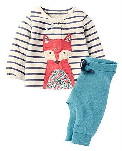 Fiream Girls Autumn Cute Print Long Sleeve Clothing Set(20079TZ,18M)