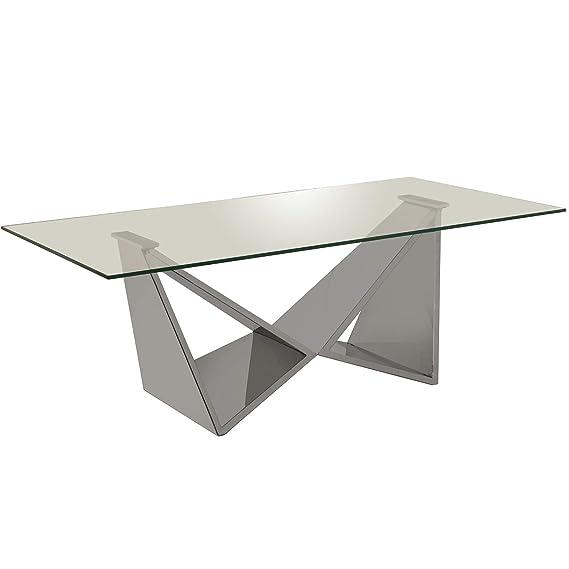 REGADECOR Mesa Centro Metal/Cristal+92229-cristal Templado ...