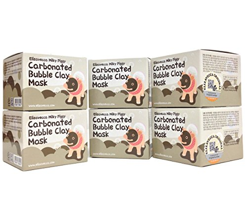 Elizavecca Milky Piggy Carbonated Bubble Clay Mask, pack of 6