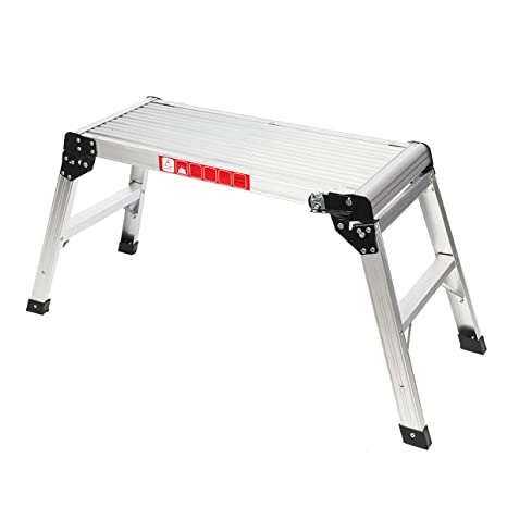 Lightweight Folding Aluminium Platform Work Step Hop Up Bench Table Decorating