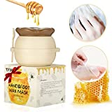 wax for hands and feet - Y.F.M - Milk & Honey Hand Wax Mask Moisturizing Hydrating Nourish Whitening Skin Care Peel Off Hand & Foot Mask - Hand Care For Woman/Man 6 fl.oz