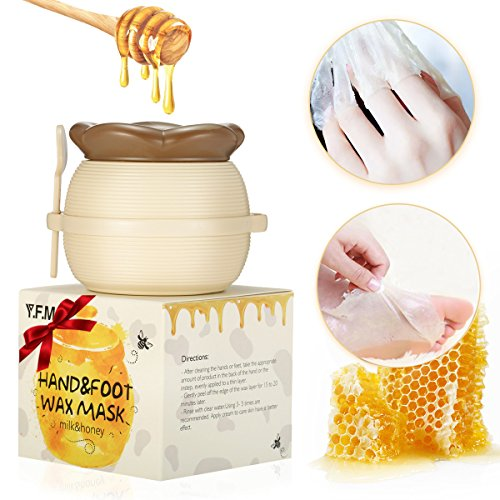 Y.F.M – Milk & Honey Hand Wax Mask Moisturizing Hydrating Nourish Whitening Skin Care Peel Off Hand & Foot Mask – Hand Care For Woman/Man 6 fl.oz