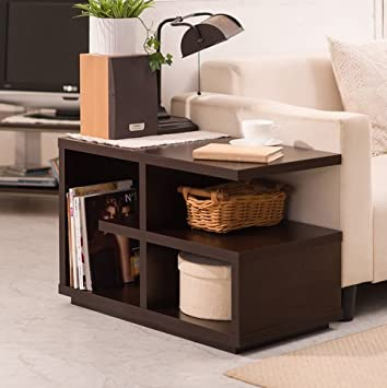 Furniture Of America Euclidor Contemporary Modern Walnut Brown Living Room  Sofa End Table Small Side Table Part 87