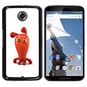 A-type Colorful Printed Hard Protective Back Case Cover Shell Skin for Motorola NEXUS 6 / Moto X / Moto X Pro ( Sad Red 3D Figurine Bubble Cartoon Character )