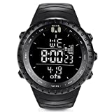 O.T.S Men's Outdoor Waterproof LED Digital Sports Watches Black Rating