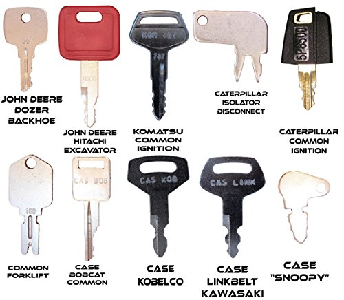 Construction Equipment Master Keys Set-Ignition Key Ring for Heavy Machines, 36 Key Set by TORNADO HEAVY EQUIPMENT PARTS (Image #1)