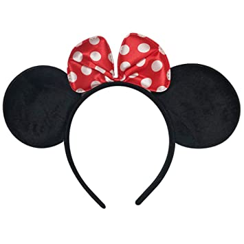 Amazon.com   Simple Relax Disney Minnie Mouse Costume Ears Baby Infant  Toddler Headband White Dots Red Bow   Beauty 558df5f2975