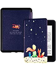 BOZHUORUI Case for All-New Kindle Paperwhite 10th Generation (2018 Release,Model PQ94WIF) - Lightweight Soft Shell Protective Cover with Auto Sleep/Wake (Boy and Fox)