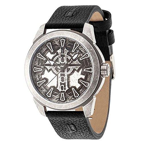 Police Reloj Analógico para Hombre de Cuarzo con Correa en Cuero PL14637JSQS.57: Amazon.es: Relojes