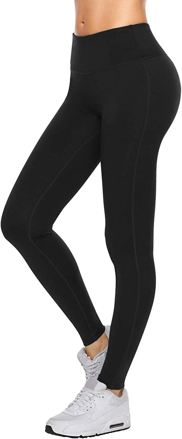 VUTRU High Waist Yoga Pants with Pockets Ankle Length Leggings for Women Tummy Control Yoga Tights Running Workout Pants