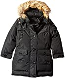 Steve Madden Toddler Girls' Outerwear Jacket (More Styles Available), Black B, 3T
