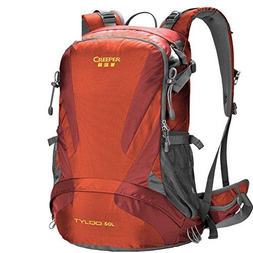 Aria di sospensione portando Zaini/Impermeabile usura campeggio trekking outdoor Pack-rosso 50L