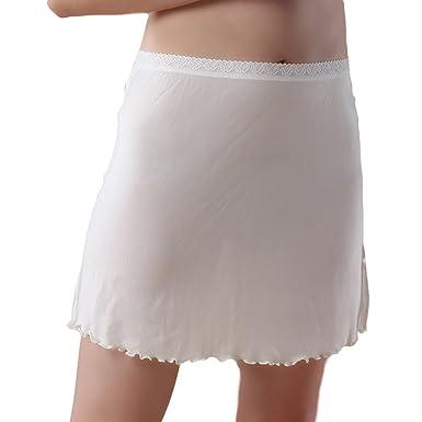 e948dc50aadffc Baymate Femme Tricotage Dentelle Slip avec Taille élastiquée Stretch Fit  Jupon