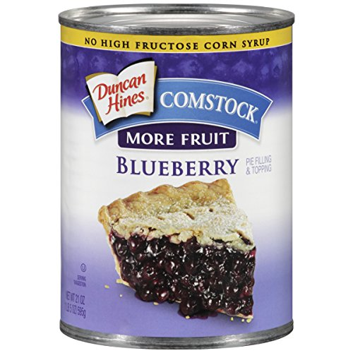 - Comstock More Fruit Pie Filling, Blueberry, 21 Ounce (Pack of 12)