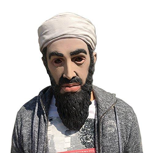 Osama bin laden Celebrity Latex Mask Ideal for Parties Halloween (Osama Bin Laden Halloween Costume)