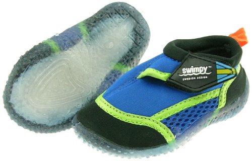 Swimpy Kinder Schwimmschuhe für den Strand UV Blau Blau/Grün/Schwarz 22-23 EU
