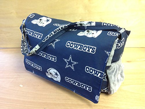 Cowboy Diaper - Diaper Bag- Dallas Cowboys/Silver