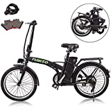 """nakto 20""""/26"""" 250W Foldaway/City Electric Bike Assisted Electric Bicycle Sport Mountain Bicycle with 36V10A Removable Lithium Battery"""
