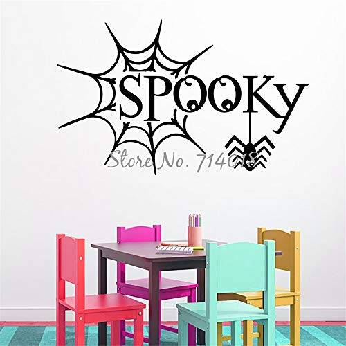 Vinyl Removable Wall Stickers Mural Decal Art Happy Halloween Spider Web Spooky Halloween Home Design Kids Play Room Decor]()