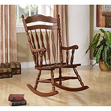 Delicieux Wildon Home® Grande Ronde Solid Wood Rocking Chair With Walnut Finish