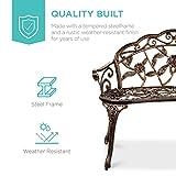Best Choice Products Steel Garden Bench Loveseat