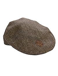Patrick Francis Ireland Kids Tweed Flat Cap, Brown In Colour