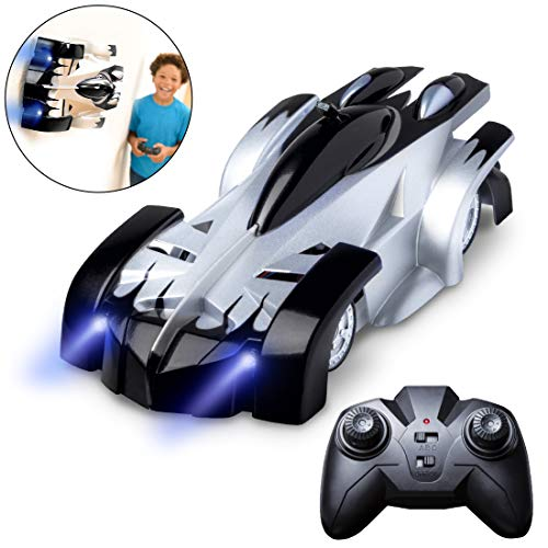 Force1 Gravity Defying Remote Control Car - RC Cars for Adults, Kids, Boys or Girls, Race Car Toys for Floor or Wall w/ USB for Rechargeable Fast RC Car (Black)