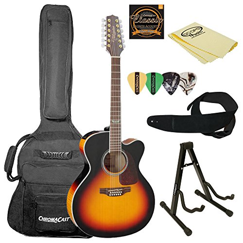(Takamine GJ72CE-12 BSB-KIT-2 Jumbo Cutaway 12-String Acoustic-Electric Guitar)