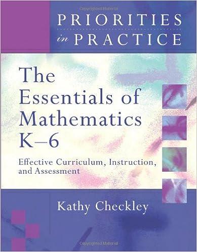 Amazon.com: The Essentials of Mathematics K-6: Effective Curriculum ...