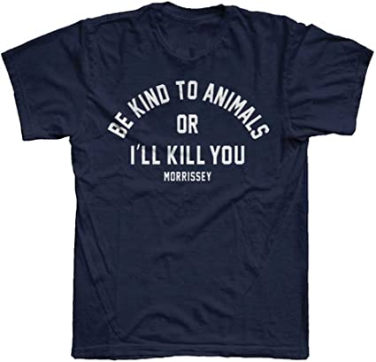 Morrissey Be Kind Official Unisex Navy Blue T-Shirt Womens Ladies Mens