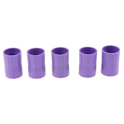 Homyl 5 Unidads Vortex Botellas Conectores Cyclone Tubo Experimentos Científicos de Plástico - Púrpura