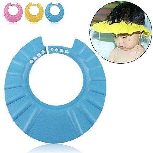 BeatlGem Safe Shampoo Dusche Bade Schutz Soft Cap Hut für Kleinkinder, Baby, Kinder und Kinder, Um Das Wasser aus Ihren Augen und Gesicht (Blau)