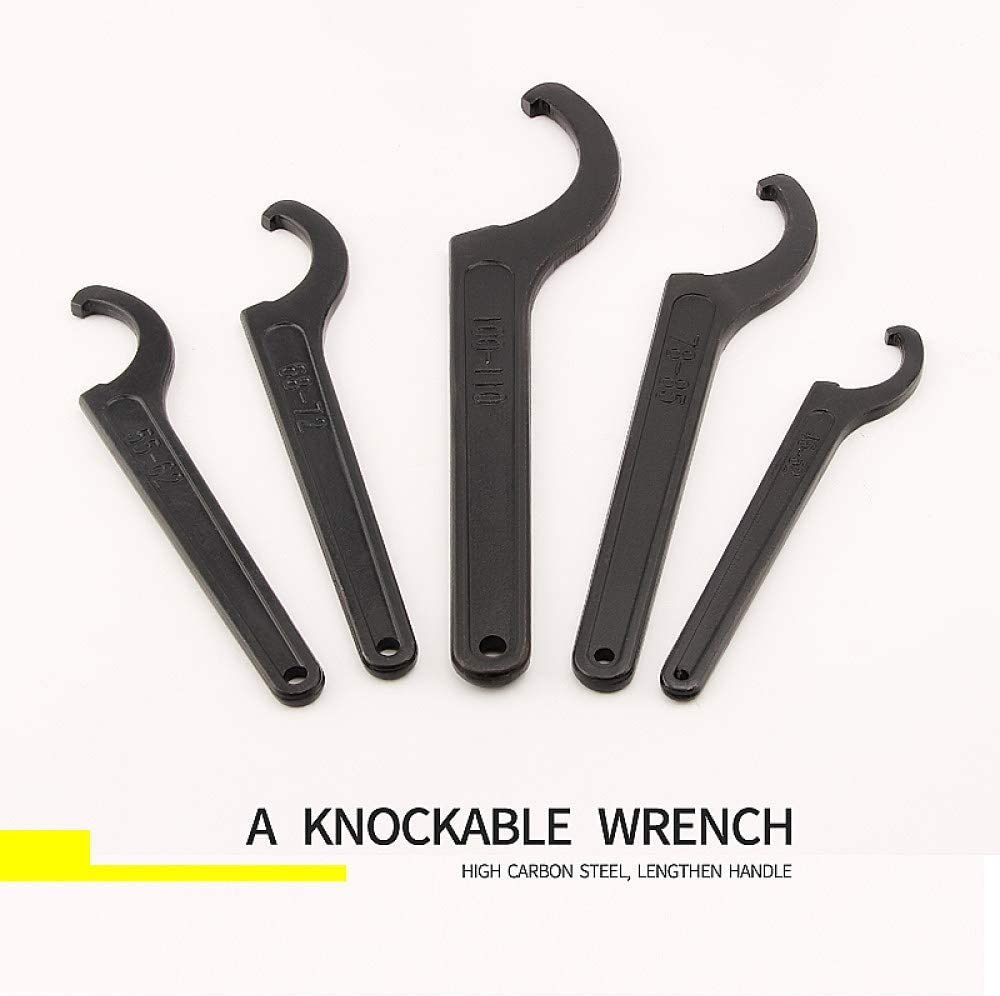 KGLOPYE Wrench 1 Round nut, Hook Wrench, milling Tool Holder, Half Moon Wrench 22-26 34-36 38-42 45-52 55-62 85-105 90-95 165-170,115,130 170-210