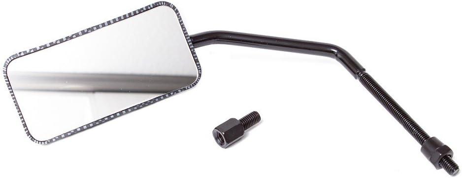 Aprilia SR50 F15 Malaguti F12 Miroir F1 Miroir Carbone comme TNT M8 2 pi/èces Aerox Nitro