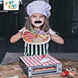 Wooden Pizza Toy for Kids Pizza Play Food Set
