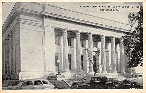 Bldg Post (Gettysburg Pennsylvania Federal Bldg Post Office Antique Postcard K58389)
