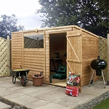 10ft x 6ft overlap pent wooden flat roof storage shed brand new 10ft x 6ft overlap pent wooden flat roof storage shed brand new 10x6 wood sheds solutioingenieria Image collections