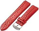 Philip Stein 2-LZTR 20mm Leather Calfskin Red Watch Strap
