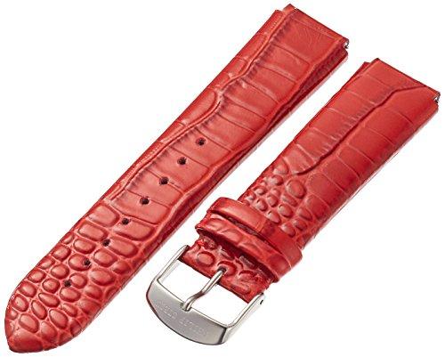 Philip Stein 2-LZTR 20mm Leather Calfskin Red Watch Strap ()