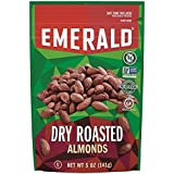 Emerald Dry Roasted Almonds, 5 Ounce Stand Up Resealable Bag