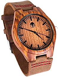 Men's Wood Watch, Natural Bamboo and Sandalwood with...