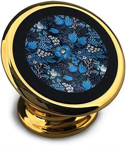 日本の花柄 携帯電話ホルダー おしゃれ 車載ホルダー 人気 磁気ホルダー 大きな吸引力 サポートフレーム 落下防止 360度回転