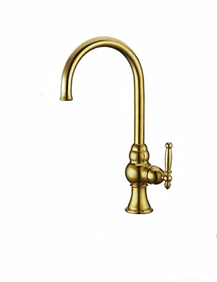 SJQKA All Copper High End Hot And Cold Kitchen Faucet, Stainless Steel Sink