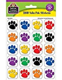 Teacher Created Resources Colorful Paw Print Stickers Value Pack (4973)