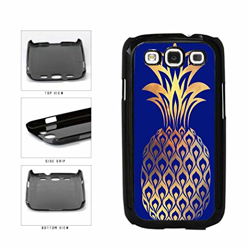 BleuReign(TM) Gold Leaf Pineapple Plastic Phone Case Back Cover Samsung Galaxy S3 I9300