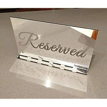 Amazon.com: RUIXUAN Juego de 3 carteles de mesa de acrílico ...