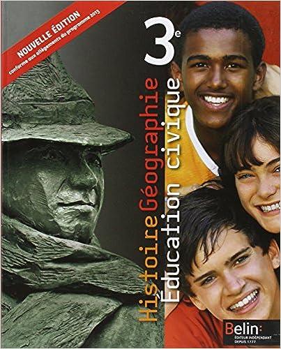 Livres gratuits en ligne Histoire Géographie - Education civique 3e pdf, epub