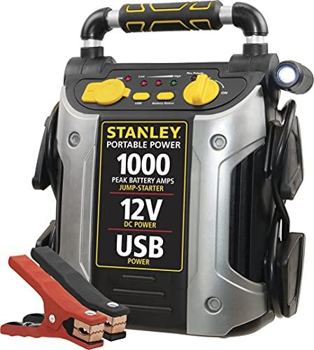 STANLEY J509 Portable Power Station Jump 1000 Peak Amp, yellow, black, silver