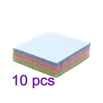 UKCOCO 10pcs chiffons de nettoyage en microfibre souple pour lunettes de  vue bijoux artisanat lentilles de 5b02a342e4ad